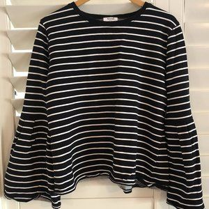 Seed Heritage Size Large Black & White Striped Top